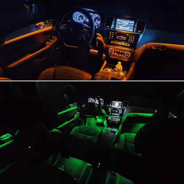 Mercedes ML LED Ambientebeleuchtung inkl. Einbau